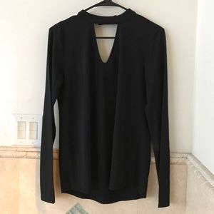 Ann Taylor Factory choker blouse, small